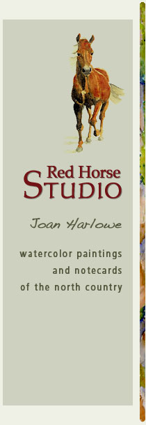 Red Horse Studio: Watercolor Paintings and Notecards of the North Country by Joan Harlowe